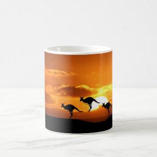 Känguru-Sonnenuntergang Tasse