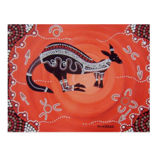 Känguru-Träumen Postkarte