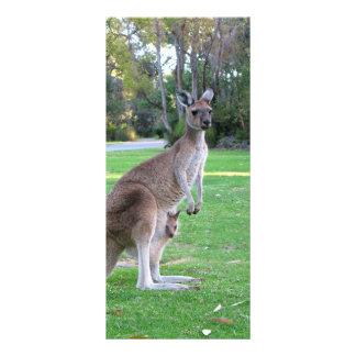 Känguru und Joey Kartendruck