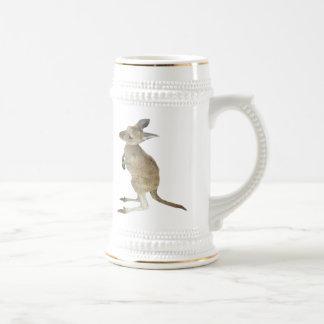 Känguru-und Tier-Friedenszeichen Bierglas