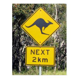 Känguru-Zeichen Postkarte
