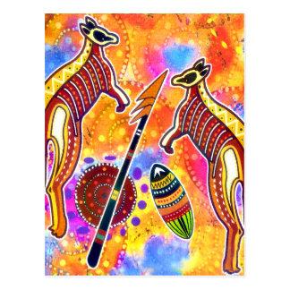 Kängurupostkarte Postkarte