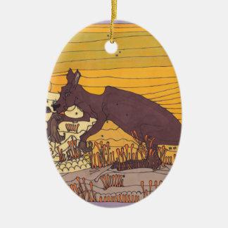 Kängurus Keramik Ornament
