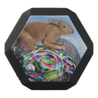 Kaninchen auf seinem bunten Ei für Ostern - 3D Schwarze Bluetooth Lautsprecher