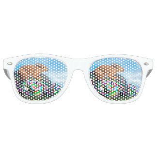 Kaninchen auf seinem bunten Ei für Ostern - 3D Sonnenbrille