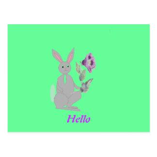 Kaninchen auf Vielzahl der Produkte Postkarte