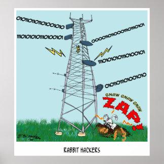 Kaninchen-Cartoon 9191 Poster