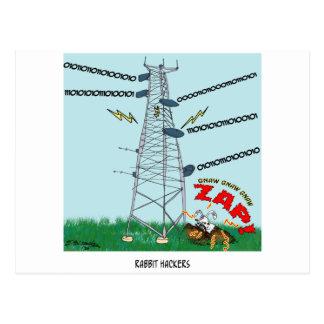 Kaninchen-Cartoon 9191 Postkarte