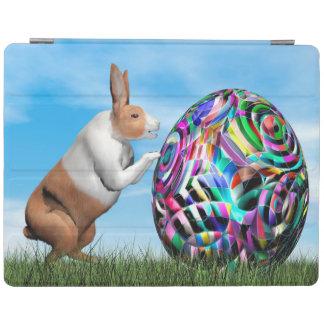Kaninchen, das Osterei drückt - 3D übertragen iPad Hülle