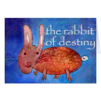 Kaninchen des Schicksals [Karte] Grußkarte