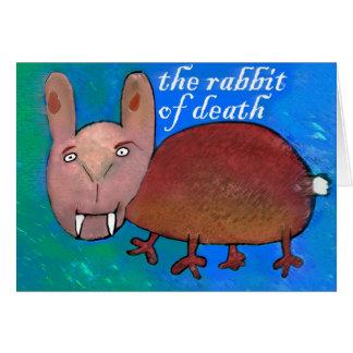 Kaninchen des Todes [Karte] Grußkarte