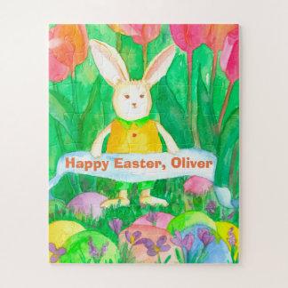 Kaninchen Eggs glückliche Ostern-Name-Kinder Puzzle