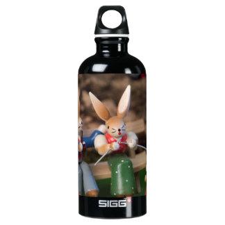 Kaninchen-Familie Ostern Aluminiumwasserflasche