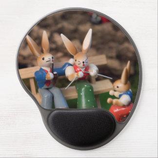 Kaninchen-Familie Ostern Gel Mousepad
