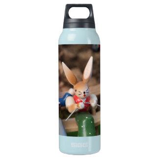 Kaninchen-Familie Ostern Isolierte Flasche