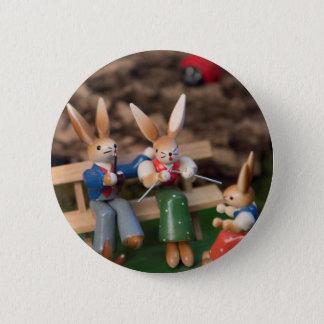 Kaninchen-Familie Ostern Runder Button 5,7 Cm