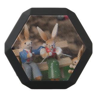 Kaninchen-Familie Ostern Schwarze Bluetooth Lautsprecher