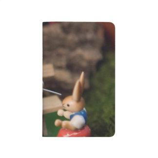 Kaninchen-Familie Ostern Taschennotizbuch