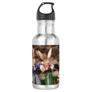 Kaninchen-Familie Ostern Trinkflasche