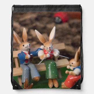 Kaninchen-Familie Ostern Turnbeutel