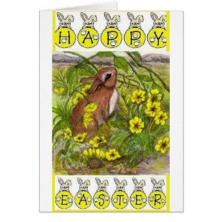 Kaninchen - fröhliche Ostern Karte