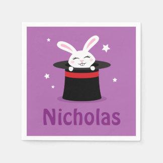 Kaninchen im personalisierten Namen des Papierserviette
