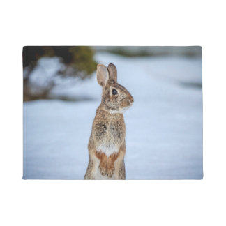 Kaninchen im Schnee Türmatte