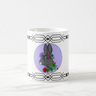 Kaninchen in den Blumen Kaffeetasse