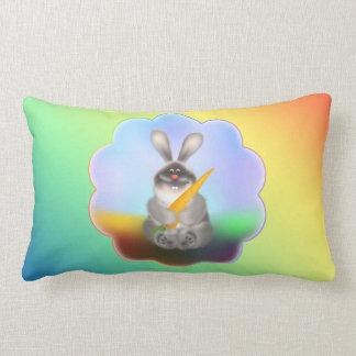 Kaninchen mit Karotte Lendenkissen