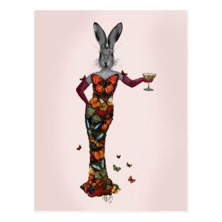 Kaninchen-Schmetterlings-Kleid 2 Postkarten