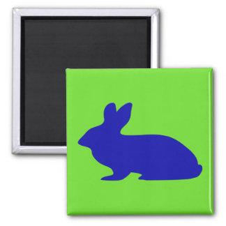 Kaninchen-Silhouette Quadratischer Magnet