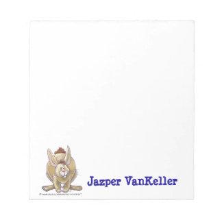 Kaninchen-Tierparade-personalisierte Notizblock