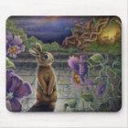 Kaninchen träumt Mousepad Fantasie-Blumen-Häschen