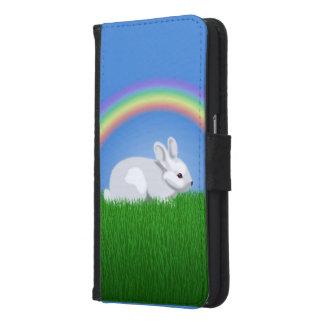 Kaninchen und Regenbogen Samsung Galaxy S6 Geldbeutel Hülle