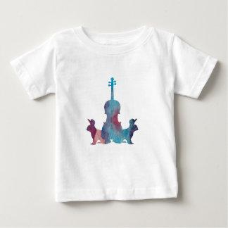 Kaninchen und Viola Baby T-shirt