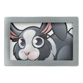 Kaninchen-Vieh-Cartoon-Charakter Rechteckige Gürtelschnalle