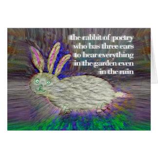 Kaninchen von Poesie [Karte] Grußkarte