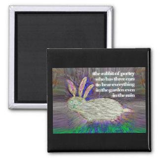 Kaninchen von Poesie [Magnet] Quadratischer Magnet