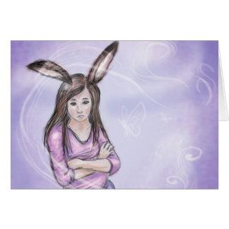 Kaninchenmädchen Karte