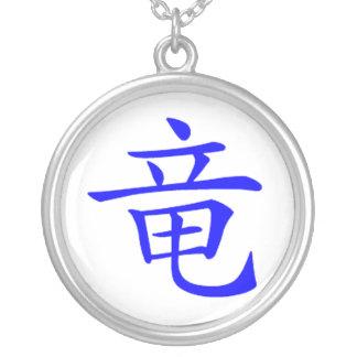 Kanji-Drache-Halskette Halskette Mit Rundem Anhänger