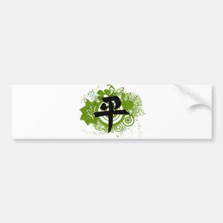 Kanji für Frieden Autoaufkleber