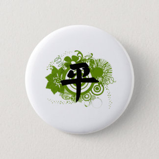 Kanji für Frieden Runder Button 5,1 Cm