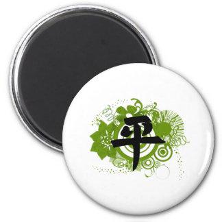 Kanji für Frieden Runder Magnet 5,7 Cm