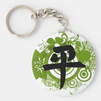 Kanji für Frieden Standard Runder Schlüsselanhänger