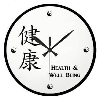 Kanji-Gesundheits-Uhr Große Wanduhr