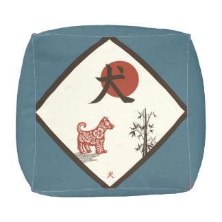 Kanji Dog on Blue