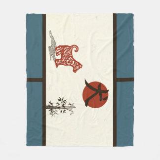 Kanji Dog on Blue Barred
