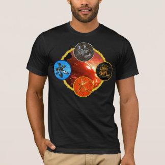 Kanji: Vier Elemente - T - Shirt #7
