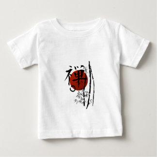 KanjiZen mit Enso und Bambus Baby T-shirt
