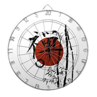 KanjiZen mit Enso und Bambus Dartscheibe